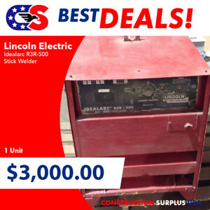 Lincoln Electric Idealarc R3r 500 Stick Welder