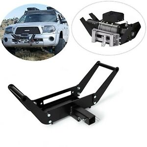 Foldable Winch Mounting Plate Cradle Mount For 2 Hitch Receiver 4wd Suv