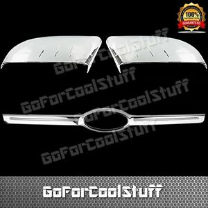 2012 14 For Ford Edge Half Mirror Cap Rear Trunk Chrome Abs Covers