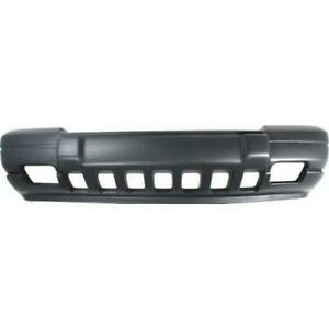 1996 1998 Jeep Grand Cherokee Front Bumper Cover Textured W Fog Lamp Holes