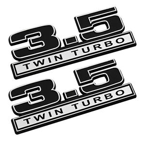 2011 2017 Ford F 150 3 5 Twin Turbo 5 Fender Emblems Black Chrome Pair