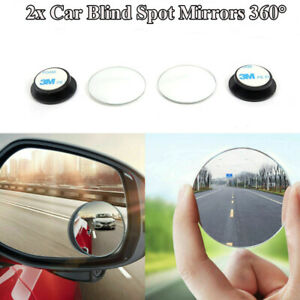 Universal 2pcs Wide Angle Convex Rear Side View Blind Spot Mirror 360 For Car