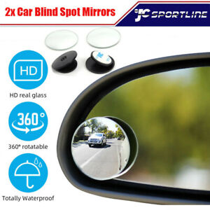 Universal 2 Pcs Wide Angle Convex Rear Side View Blind Spot Mirror For Car