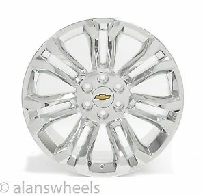 New Chevy Silverado Avalanche Chrome 22 Gold Bt Wheels Rims Lugs Free Ship 5666