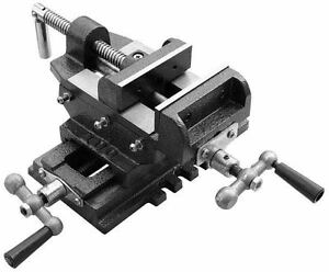 4 Cross Drill Press Vise Slide Metal Milling 2 Way X y Clamp Machine