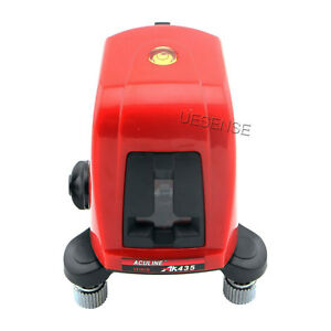 3pcs Ak435 360 Degree Self leveling Cross Laser Level Red 2 Line 1 Point