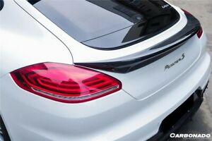 2014 2016 Panamera Tas Style Carbon Fiber Trunk Spoiler Body Kit