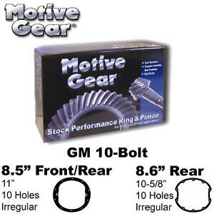 Motive Gear Gm10 430 Ring Pinion Gm 10 bolt 8 5 4 30 Motive Gear