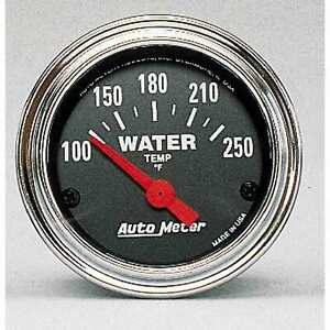 Auto Meter 2532 Water Temperature Gauge 2 1 16 100 250 Degrees Electric