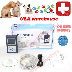 Vet Handheld Veterinary Pulse Oximeter With Tongue Spo2 Probe pc Software