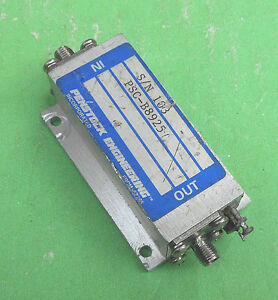 Penstock Engineering Psc b8925 10mhz 1 5ghz Sma Amplifier 31db Max Power 23dbm