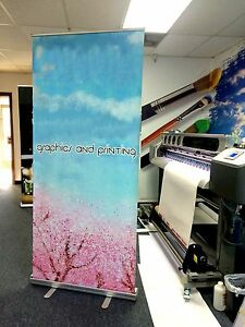 Retractable Pull Up Banner Stands 33 x80 Printing Included