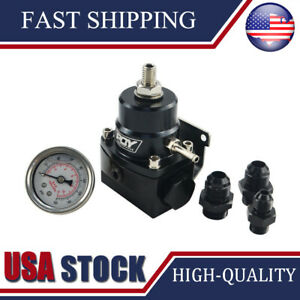 New Black High Pressure Fuel Regulator W Boost 8an 8 8 6 Pressure Regulator