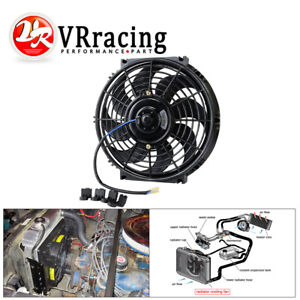 10 Inch Universal Slim Fan Push Pull Electric Radiator Cooling 12v Mount Kit
