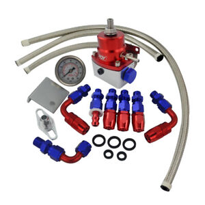 Ae Style 7mgte Mkiii Fuel Pressure Regulator Red With Hose Line Kits Fittings