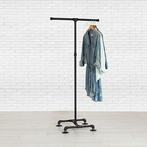 Industrial Pipe Clothing Rack 2 way By William Robert s Vintage