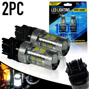 2x Amber White Switchback Led Turn Signal Bulb Cree 100w 3157 4157na 3155 4057