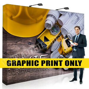 Replacement Graphic 10 Trade Show Pop Up Display Banner Stand Exhibits Banner