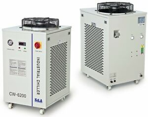 Industrial Refrigeration Water Chiller Cool Dual 200w Co2 Laser Tubes Cw 6200ai