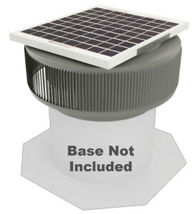 Aura Vent Solar Fan Retrofit 12 In Exhaust Roof Vent 10w 17v Weatherwood