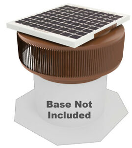 Aura Vent Solar Fan Retrofit 12 Inch Exhaust Roof Ventilator 10w 17v Brown