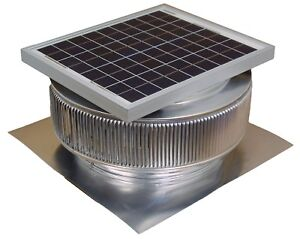 Aura Vent Solar Fan 14 Inch Exhaust Roof Attic Ventilator 15w 17v 1007 Cfm