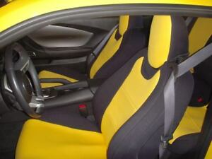 Chevy Camaro Coupe 5 Neoprene Front Coverking Yellow Seat Covers