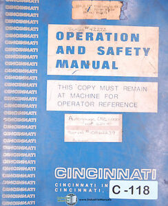 Autogauge Cnc 1000 Automec Operations Programming And Electrical Manual 1994