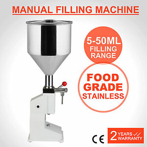 New Manual Filling Machine 5 50ml For Cream Shampoo Cosmetic Liquid Filler