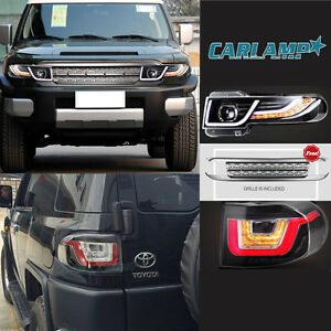 Led Headlights Tail Lights Grille For Toyota Fj Cruiser 2007 2014 Projector