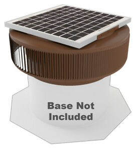 Aura Vent Solar Fan Retrofit 14 In Exhaust Roof Ventilator 15w 17v Brown