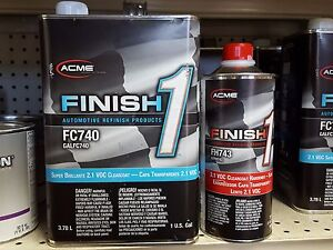 1 Gallon Kit Finish 1 Clear Coat Finish1 Fc740 And Fh743