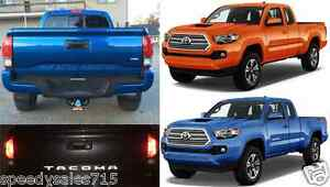 Reflective Black Tailgate Letter Inserts For 2016 2017 Toyota Tacoma New Usa