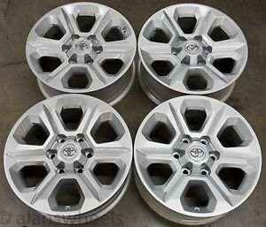 4 New Toyota 4runner Tacoma 17 Factory Oem Silver Wheels Rims Free Ship 75153