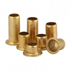 Copper Brass Vias Rivet Nuts Through Hole Rivets Hollow Grommets M3 5 M4 M5 M6