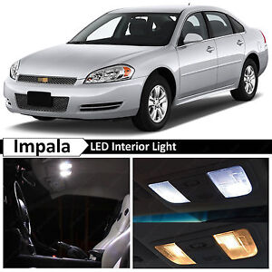 18x White Led Lights Interior Package Kit For 2006 2013 Chevrolet Impala