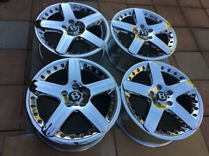 19 New Chromed Oem Factory Original Bentley Arnage T 2 Pc Wheels And Tires