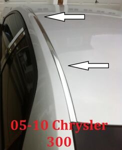 For 2005 2010 Chrysler 300 Chrome Roof Top Trim Molding Kit