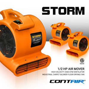Contair Storm Air Mover Carpet Dryer Blower Floor Fan High Cfm Orange Color Max