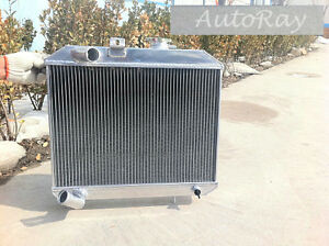 Brand New Full Aluminum Radiator For Jeep Willys 41 52 3 Rows 48 49 50 51 Manual