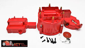 Hei Red Distributor Cap Rotor Set Replacement V6 I6 6 Cylinder Ford Chevy 4 3