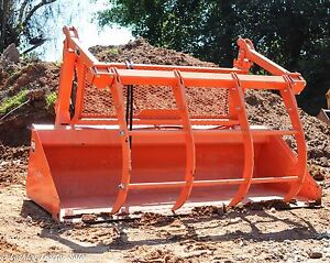 Used Kubota M9248 84 Quick Attach Hay Grapple Bucket