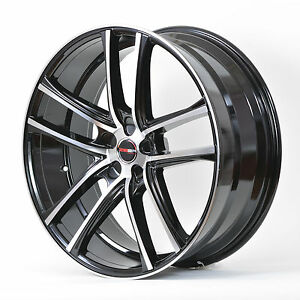 4 Gwg Wheels 20 Inch Black Machined Zero Rims Fits 5x114 3 Et20 Mitsubishi Evo X