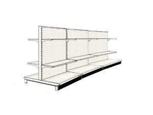 44 Aisle Gondola For Convenience Store Shelving Used 54 Tall 36 W