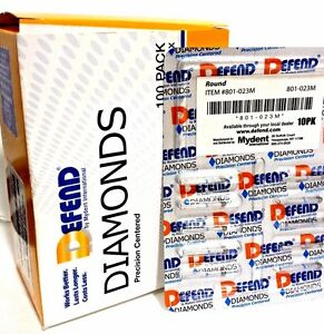 Diamond Burs Round 801 023m Medium Blue 10x 10 pk Bur 100 Total Burs