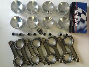 4 6 Mustang Gt Or Cobra Forged Pistons And Rods With Total Seal Rings