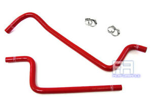 Hps Silicone Heater Coolant Hose Kit For Jeep Wrangler Tj 4 0l L6 97 01 Lhd Red