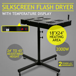 18 X 24 Silkscreen Flash Dryer Curing 2000w Screen Printing Adjustable T shirt