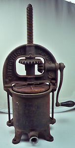 Antique Cast Iron Enterprise 25 Sausage Stuffer 4 Qt Lard Press Philadelphia Pa