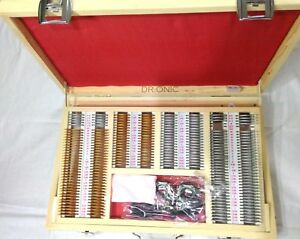 Trial Frame trial Lens Set Of 225 Lenses In Wooden Box Illumination Dr onic